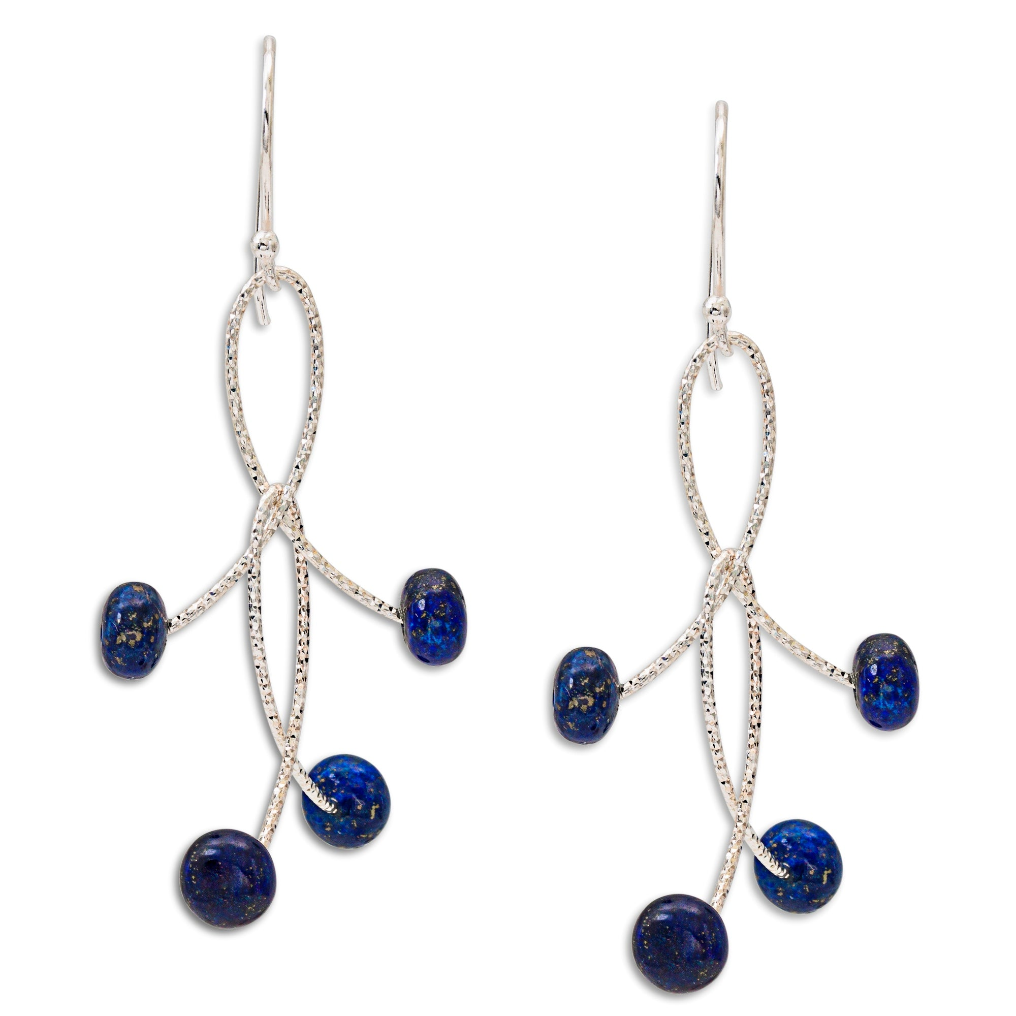 "Lapis Double ""Orbits"" Earrings"
