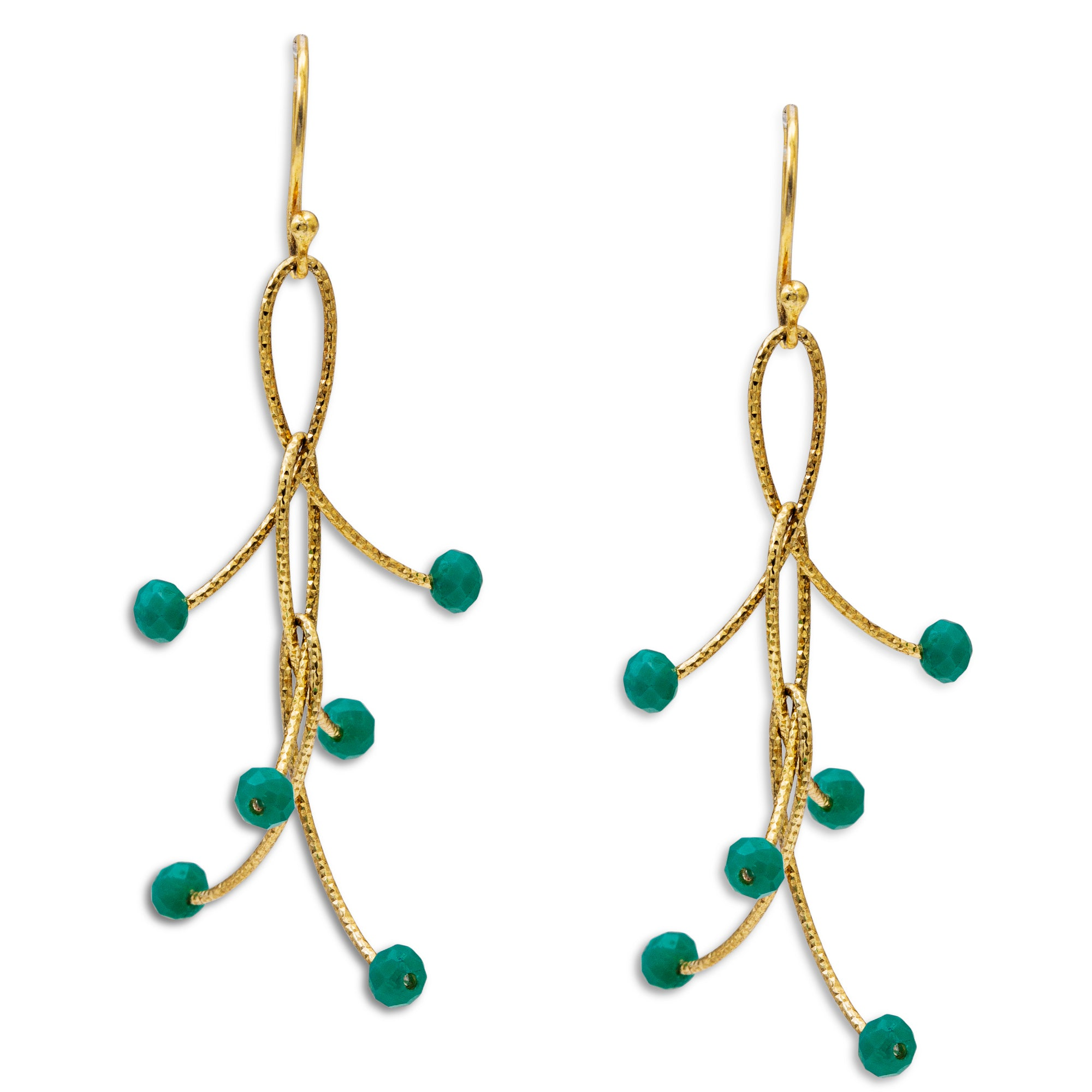 "Turquoise Triple ""Orbits"" Earrings"