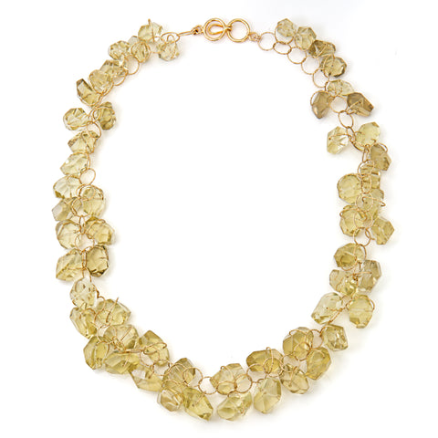 "Lemon Quartz ""Love"" Twister Necklace"