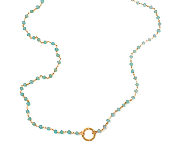 Labradorite Eternity Circle Long Necklace
