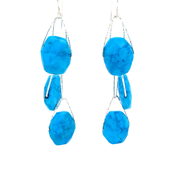 "Turquoise Blue Howlite 1 2 3 4 Stone ""Academy"" Earring - Silver google youtube facebook pinterestTurquoise Blue Howlite 1 2 3 4 Stone ""Academy"" Earring - Silver google youtube facebook pinterest"