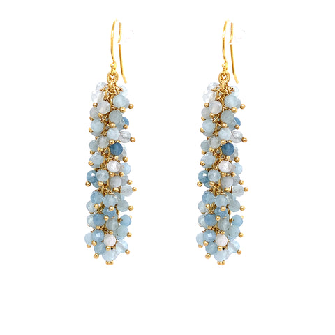 "Turquoise Gemstone ""Shimmer"" Earring, Gold OXI google pinterest youtube facebook instagram moonstone nude pink aquamarine"