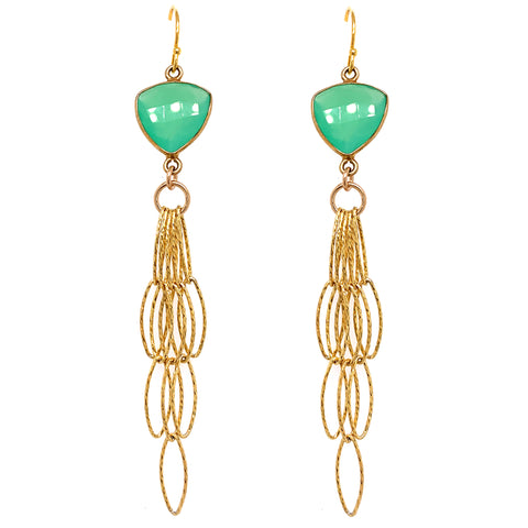 Gold Tassel Bottom amethyst blue london lemon quartz green prenite labradorite abalone chalcedony garnet emerald green onyx olive Earrings google facebook google youtube green chrysoprase sexy fringe