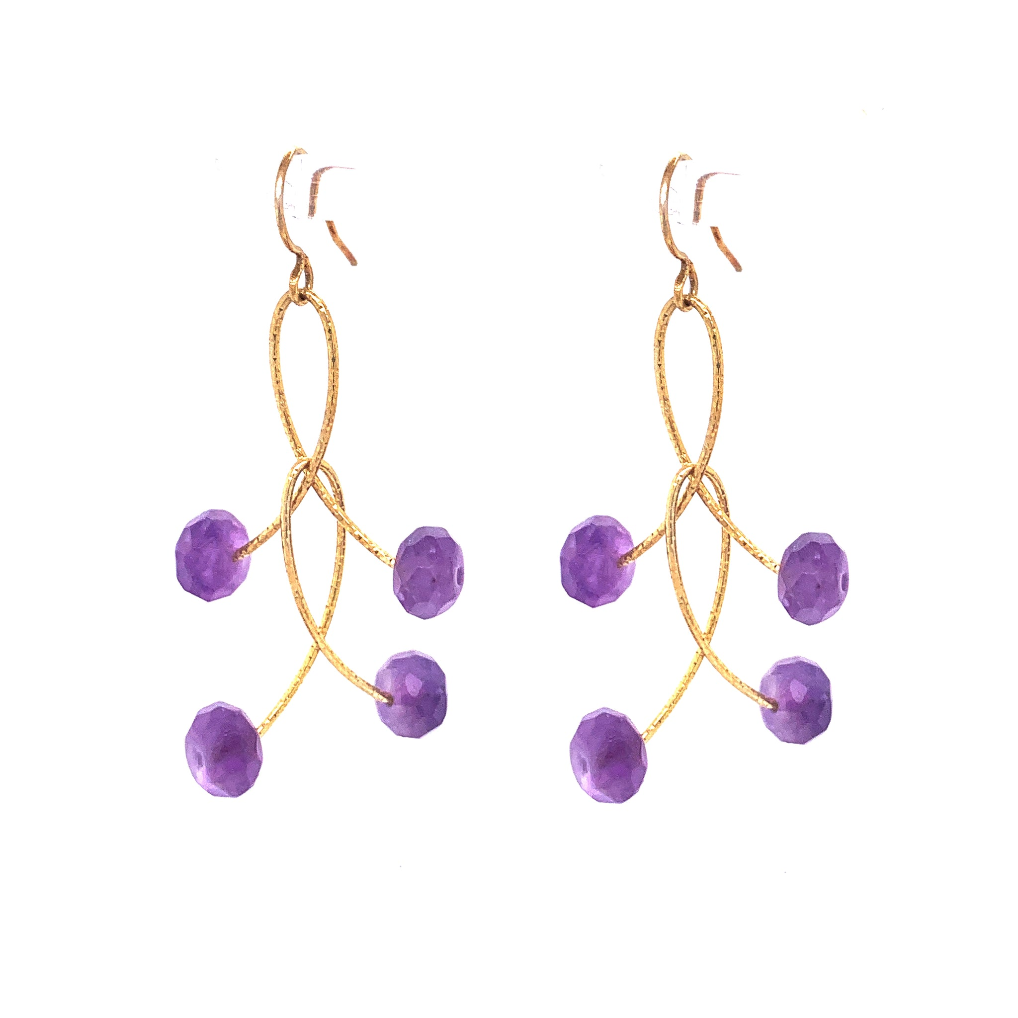 "Amethyst Double ""Orbits"" EarringsAmethyst Double ""Orbits"" Earrings"