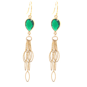 Abalone Navy Inlay Gold Tassel Bottom amethyst blue london lemon quartz green prenite labradorite abalone chalcedony garnet emerald green onyx olive Earrings google facebook google youtube