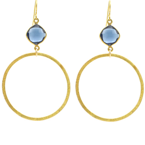 Crystal Clear Quartz Gold Hoop Bottom sexy hoops google pinterest facebook  london blue gold