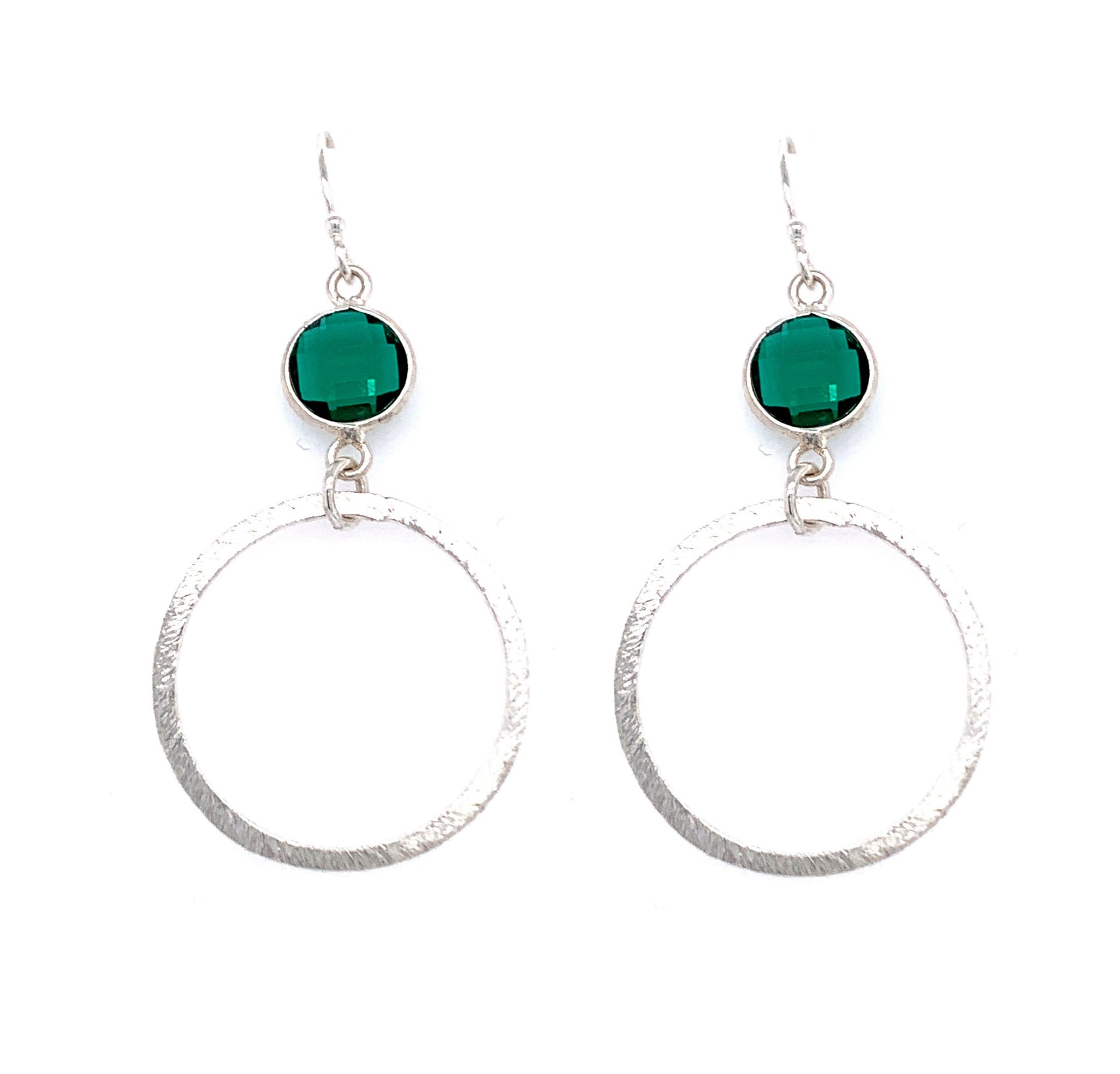 Emerald Green Quartz Silver Small Hoop Bottom blue london google youtube facebook instagam