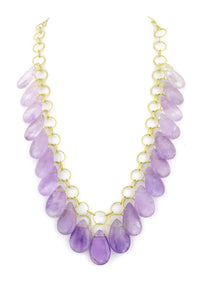 "Amethyst Teardrop ""Stunner"" Necklace"