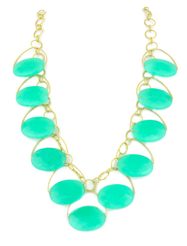 "Jade ""Chrysoprase"" Blossom Necklace"