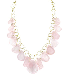 "Rose Quartz Multi Stone ""Stunner"" Necklace"