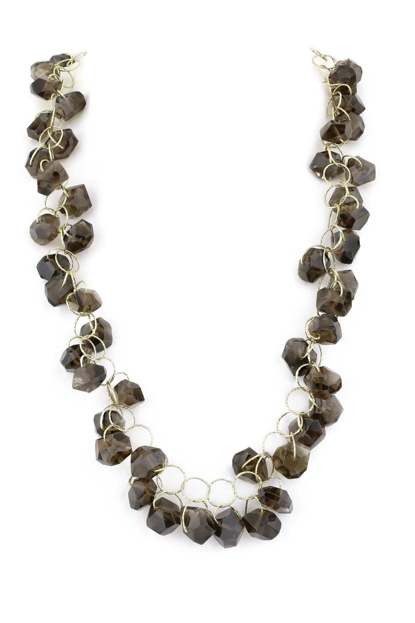 "Smokey Quartz ""Love"" Twister Necklace"