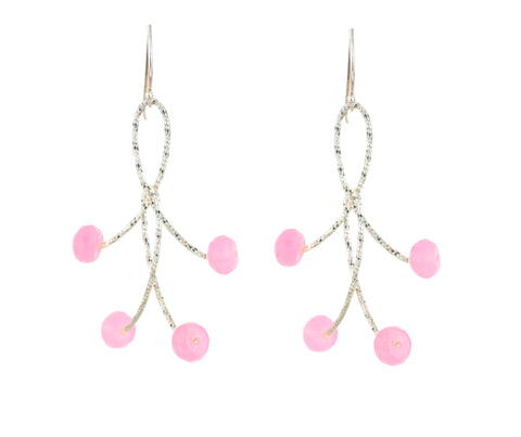 "Rose Quartz Double ""Orbits"" Earrings"