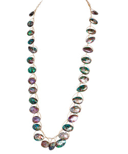 "Abalone ""The GaGa"" Super Long & Sexy Multi Shimmer Dangle Necklace"