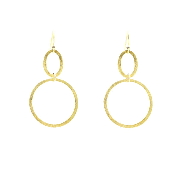 Uptown Double Gold Infinity Hoops  black silver 25mm