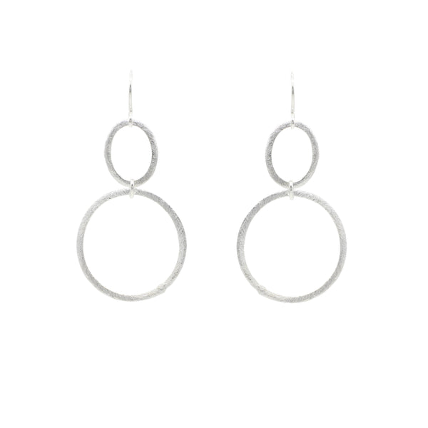 Uptown Oval/Circle Infinity Hoops - Gold