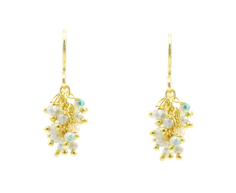 "Aquamarine Gemstone MINI ""Shimmer"" Earring"