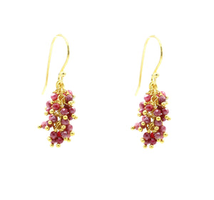 "Indian Ruby Gemstone MINI ""Shimmer"" Earring"