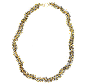 Pyrite Stone Shimmer Necklace, Gold