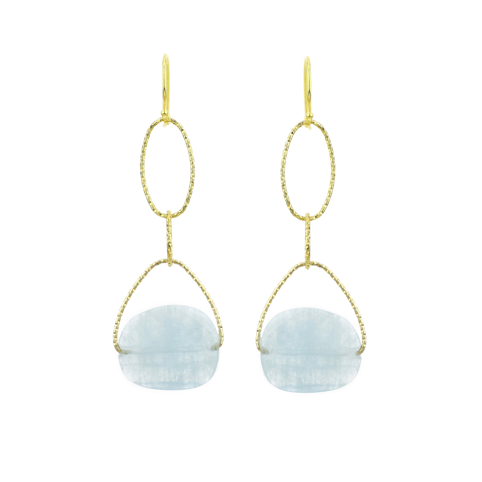 Aquamarrine Faceted Lovelier Earrings