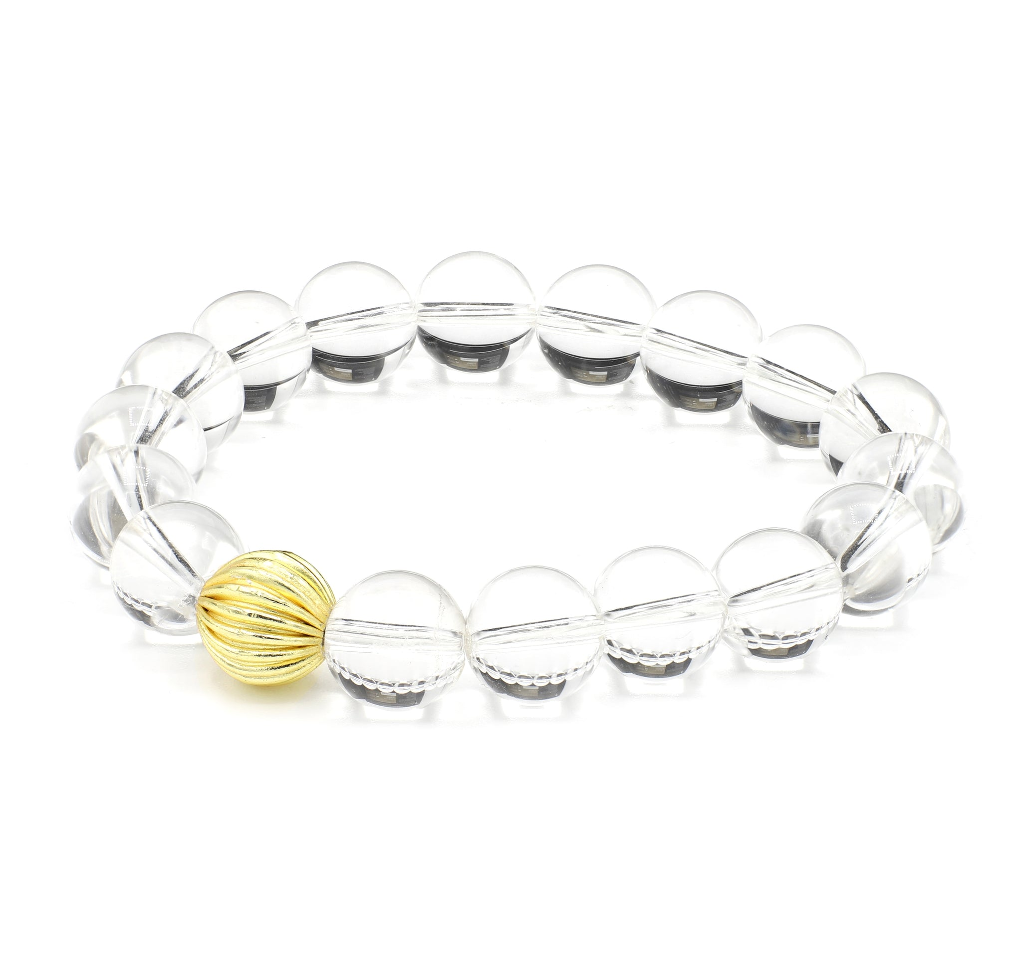 Crystal Quartz Single Stranded Stone Bracelet