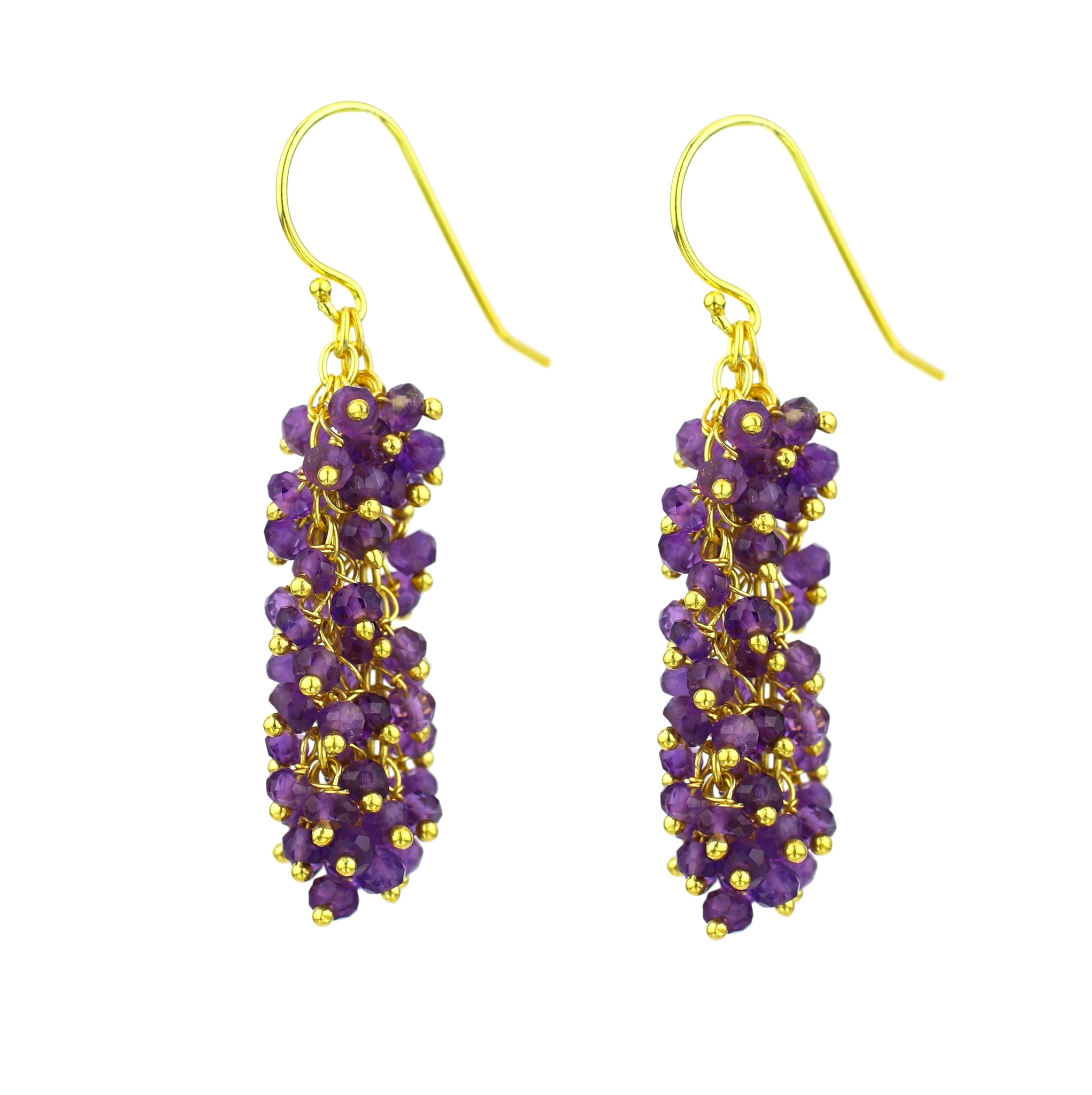 "Amethyst Gemstone MEDIUM ""Shimmer"" Earring"