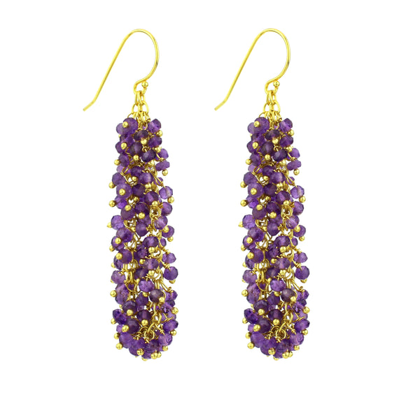 "Amethyst Gemstone LONG ""Shimmer"" Earring"