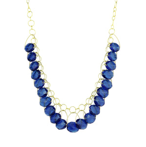 "London Blue Quartz Multi Stone ""Stunner"" Necklace"