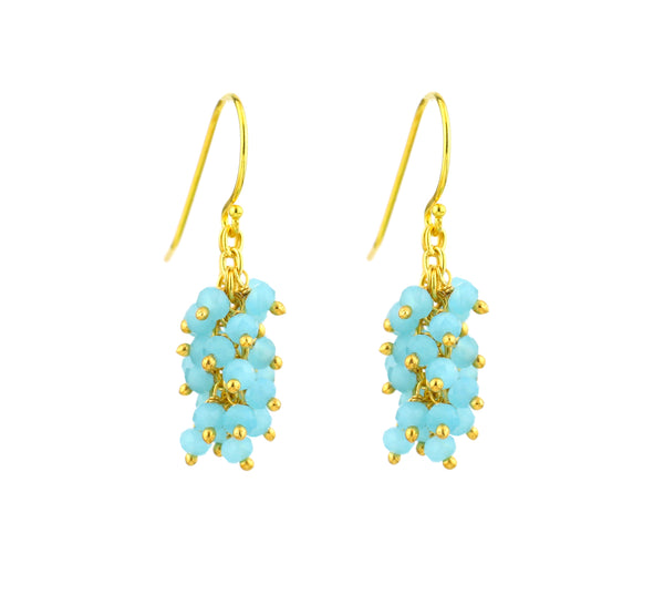 "Chalcedony (Aqua Blue) Gemstone MINI ""Shimmer"" Earring"