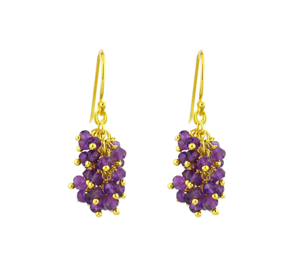 "Amethyst Gemstone MINI ""Shimmer"" Earring"