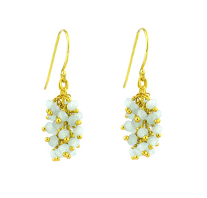 "Chalcedony (Light Blue) Gemstone MINI ""Shimmer"" Earring"