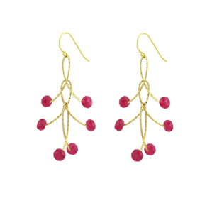 "Ruby Triple ""Orbits"" Earrings"
