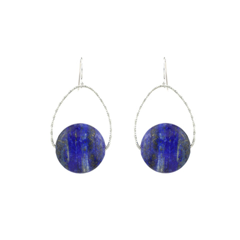 Lapis Orb Earrings