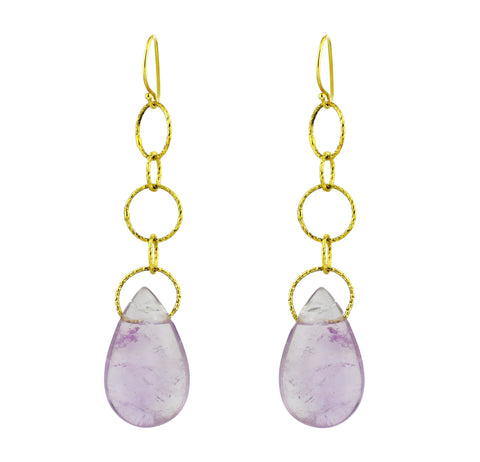 Amethyst Teardrop Lovelier Earrings