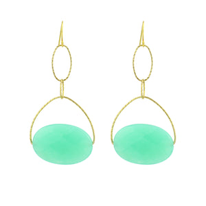 "Jade ""Chrysoprase Lovelier Earrings"