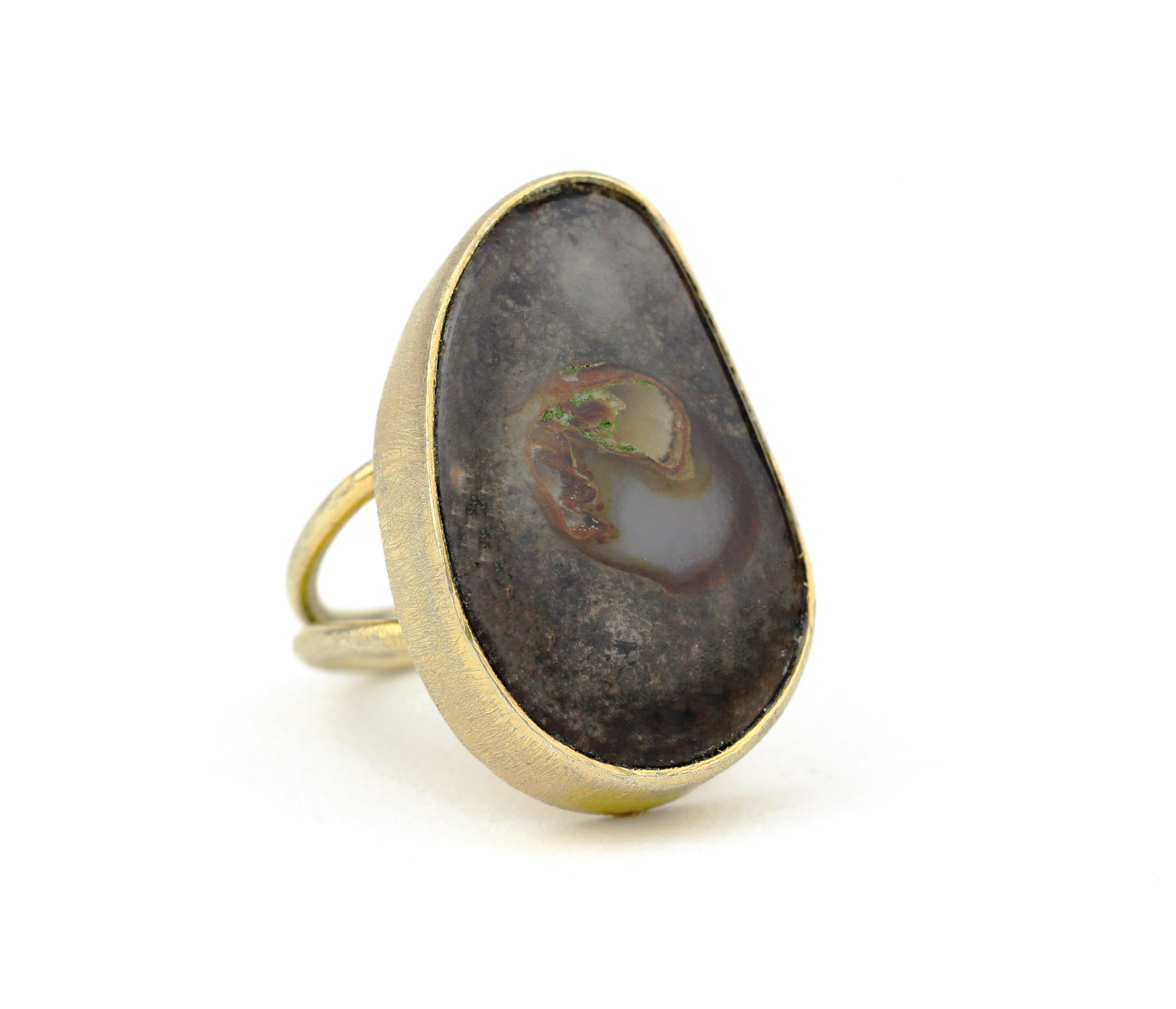 boulder opal dendritic Mook Jasper Rainforest ocean gold flake picture bumblebee Agate 10kt Gold Ring Teardrop round oval rectangle square free form opal labradorite