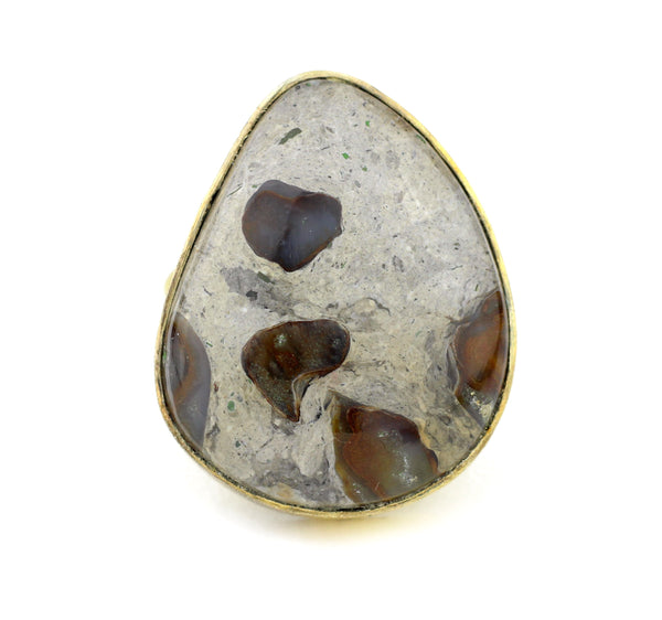 tiger eye hematite pyrite seraphinite black onyx gemstone jewelry pink blue lace agate boulder opal dendritic Mook Jasper Rainforest ocean gold flake picture bumblebee Agate 10kt Gold Ring Teardrop round oval rectangle square free form opal labradorite
