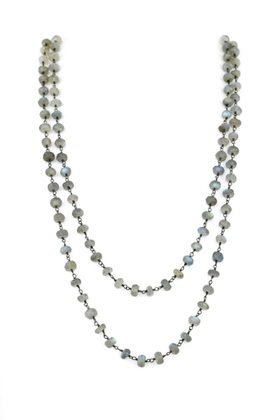 Labradorite Faceted Rondell Necklace