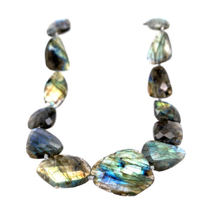 Labradorite Faceted 42' Knotted Necklace
