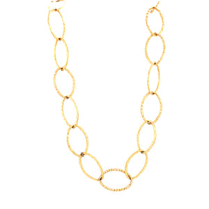 Hammered Link Gold Filled Necklace