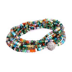 colorful pinterest Sapphire Faceted Infinity Long Necklace google youtube facebook lapis aquamarine multi stone semi precious turquoise spinel black blue apatite chrysocolla kynite BLUE