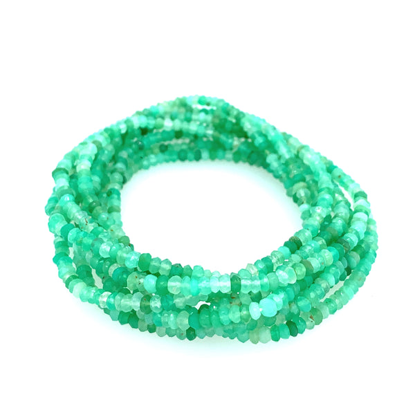 "Chrysoprase AAA Faceted 68"" Infinity Long Necklace sexy google pinterest facebook instagram"