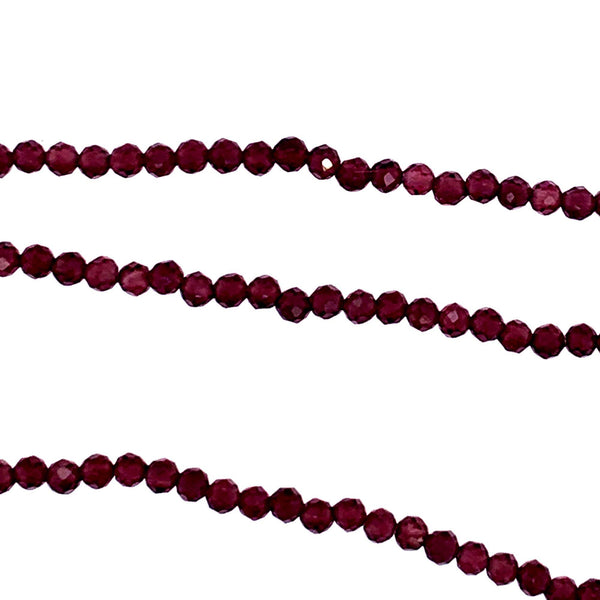 This Sparkling Plum Garnet CZ infinity necklace can be doubled 3 or 4 times easily      AAA Semi Precious Faceted Stones     68 Inches     Faceted infinity necklace