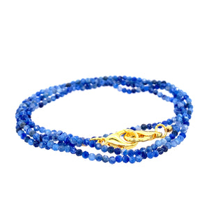 "Kynite Blue MASK Holder & Multi Wear 27"" Necklace or Wrap Bracelet"