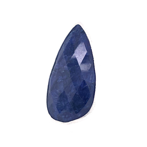 Copy of Lapis Jumbo Faceted Teardrop Silver Ring  Media 1 of 2 gold google pinterest