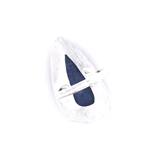 Copy of Lapis Jumbo Faceted Teardrop Silver Ring  Media 1 of 2 pinterest google