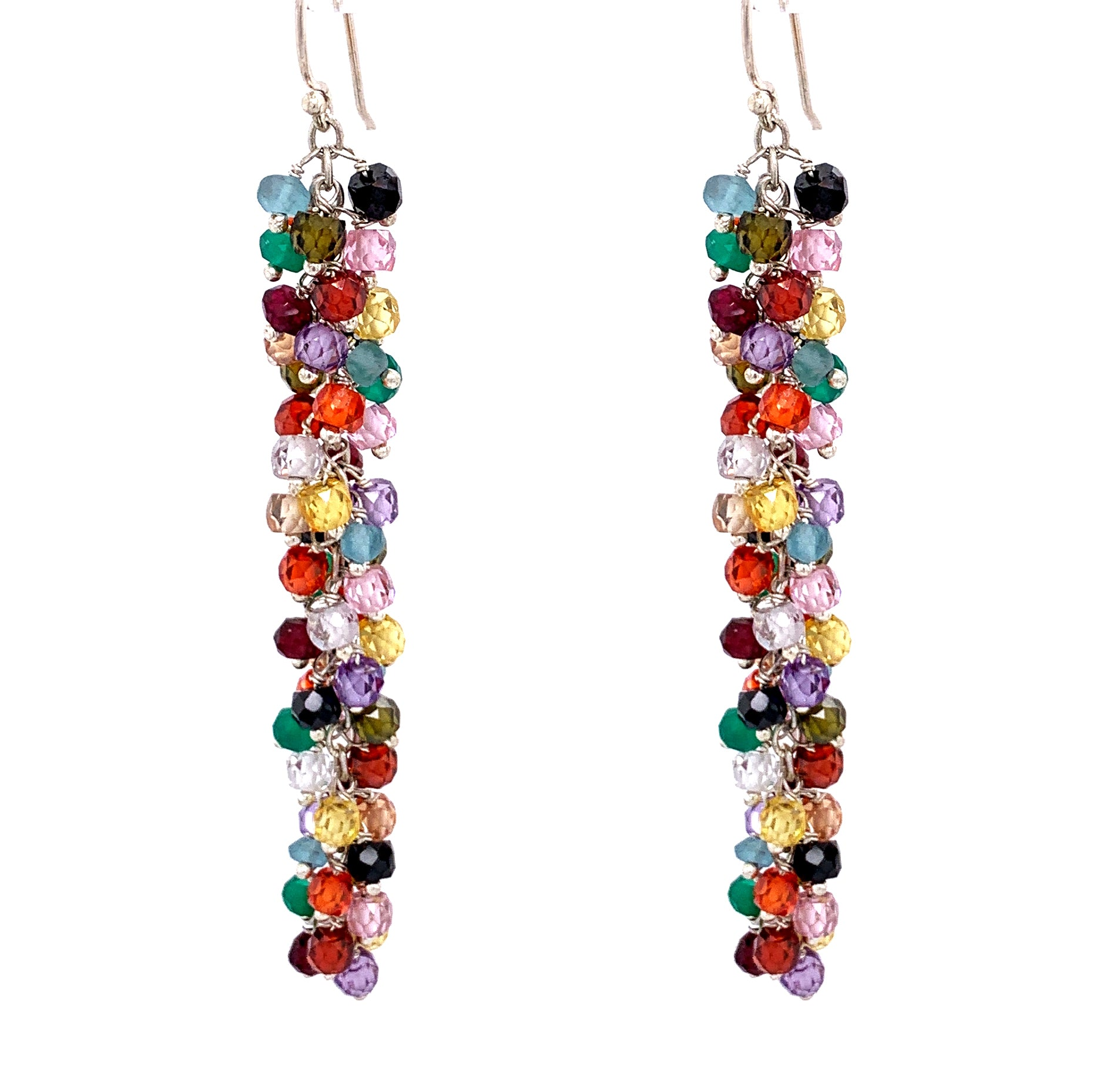 "Sexy Long Large Stone Single Multi Color Gemstone ""Shimmer"" EarringSexy Long Large Stone Single Multi Color Gemstone ""Shimmer"" Earring silver gold google youtube facebook"