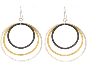 Mixed Metal Jumbo Hoops