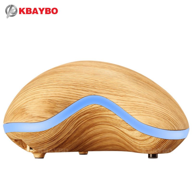Aroma Essential Oil Diffuser Wood Grain Ultrasonic 150ml