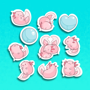 Axolotl Sticker Set