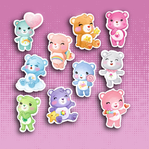 Retro Bear Sticker Set